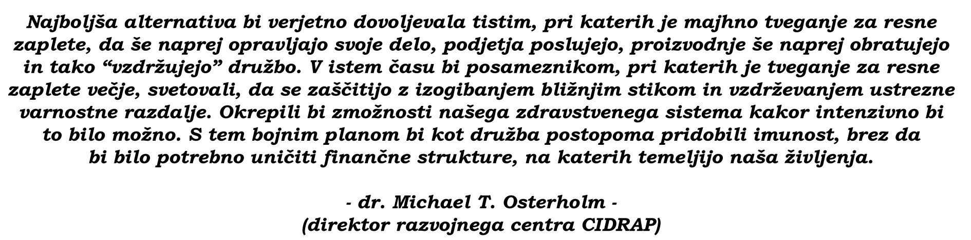 osterholm quote 2